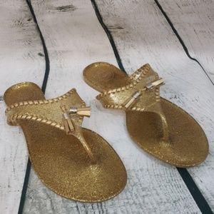 Jack Roger's gold sparkle jelly sandals
